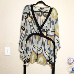 Lane Bryant Sheer Long Sleeve Blouse 22/24
